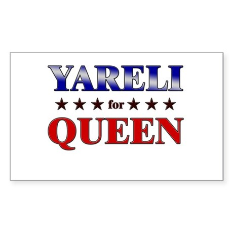 YARELI for queen Rectangle Sticker