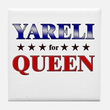 YARELI for queen Tile Coaster