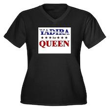 YADIRA for queen Women's Plus Size V-Neck Dark T-S
