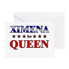 XIMENA for queen Greeting Card