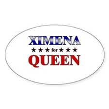 XIMENA for queen Oval Decal