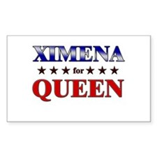 XIMENA for queen Rectangle Decal