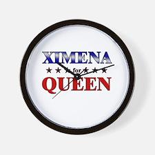 XIMENA for queen Wall Clock