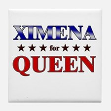 XIMENA for queen Tile Coaster