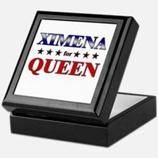 XIMENA for queen Keepsake Box