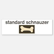 Standard Schnauzer Dog Bone Bumper Bumper Bumper Sticker