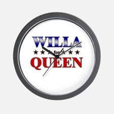 WILLA for queen Wall Clock