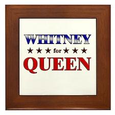 WHITNEY for queen Framed Tile