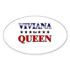 VIVIANA for queen Oval Decal