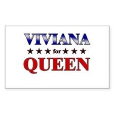 VIVIANA for queen Rectangle Decal