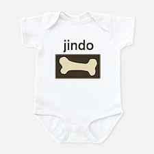 Jindo Dog Bone Infant Bodysuit