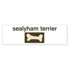 Sealyham Terrier Dog Bone Bumper Car Sticker