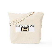 Irish Water Spaniel Dog Bone Tote Bag