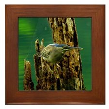 Little Heron Framed Tile