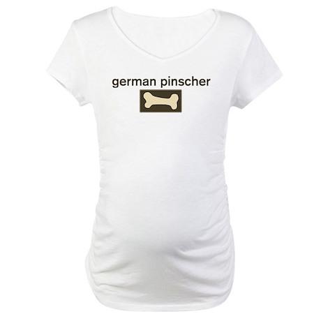 German Pinscher Dog Bone Maternity T-Shirt
