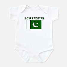 I LOVE PAKISTAN Infant Bodysuit