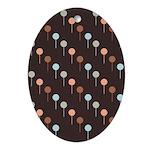 Lolly Spots Polka Dot Oval Ornament