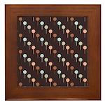 Lolly Spots Polka Dot Framed Tile