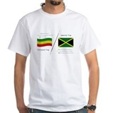 Ethiopian Mens White T-shirts