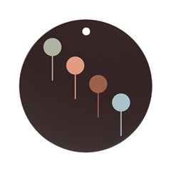 Lolly Spots Polka Dot Ornament (Round)
