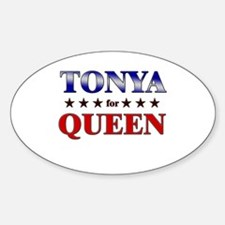 TONYA for queen Oval Decal