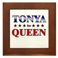 TONYA for queen Framed Tile