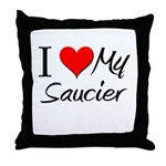I Heart My Saucier Throw Pillow