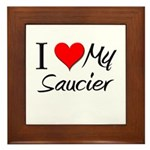 I Heart My Saucier Framed Tile