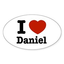 I love Daniel Oval Decal