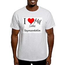 I Heart My Sales Representative T-Shirt