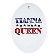 TIANNA for queen Oval Ornament