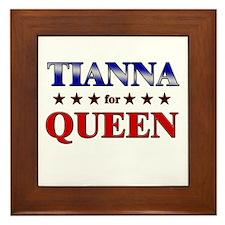 TIANNA for queen Framed Tile