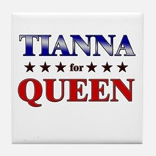 TIANNA for queen Tile Coaster