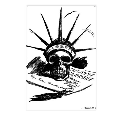 Death Warrant Postcards (Package of 8)