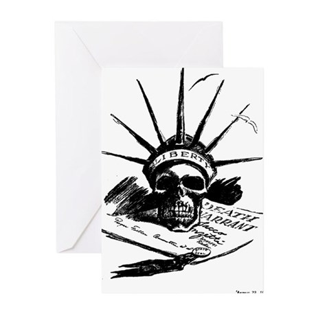Death Warrant Greeting Cards (Pk of 10)