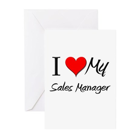 I Heart My Sales Manager Greeting Cards (Pk of 10)