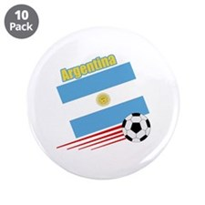 "Argentina Soccer Team 3.5"" Button (10 pack)"