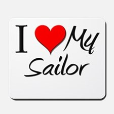I Heart My Sailor Mousepad