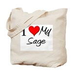 I Heart My Sage Tote Bag