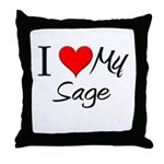 I Heart My Sage Throw Pillow