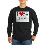 I Heart My Sage Long Sleeve Dark T-Shirt