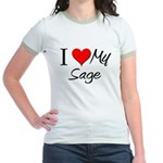 I Heart My Sage Jr. Ringer T-Shirt