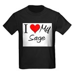 I Heart My Sage Kids Dark T-Shirt