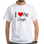 I Heart My Sage White T-Shirt