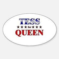 TESS for queen Oval Decal