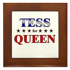 TESS for queen Framed Tile