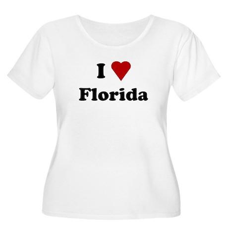 I Love Florida Women's Plus Size Scoop Neck T-Shir