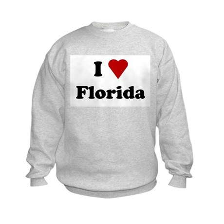 I Love Florida Kids Sweatshirt