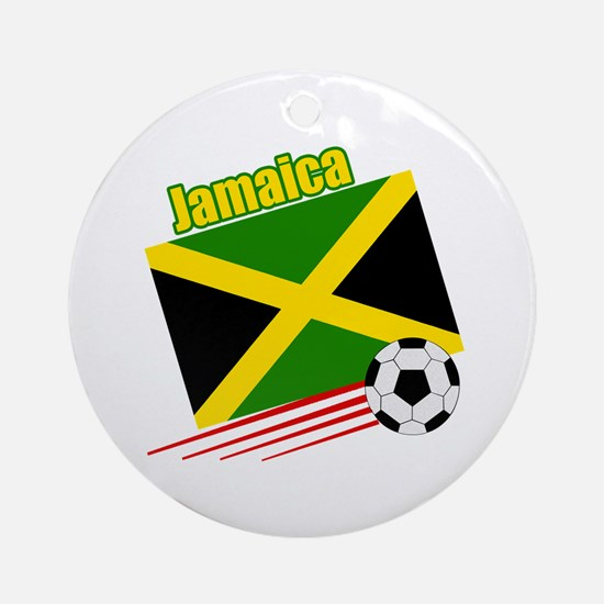 Jamaica Soccer Team Ornament (Round)