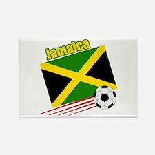 Jamaica Soccer Team Rectangle Magnet